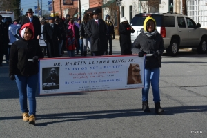 The MLK Day parade in Littleton last year.