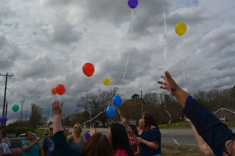 Balloons are released in honor of the missing.