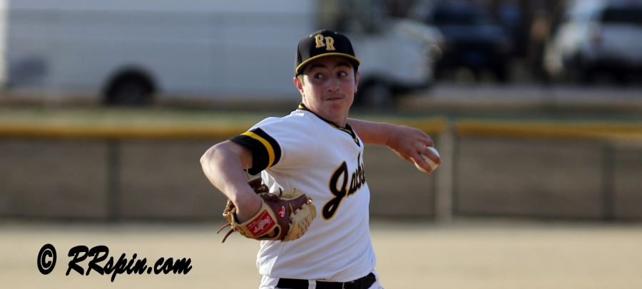 Cameron Medlin on the mound for the JV Yellow Jackets Friday.