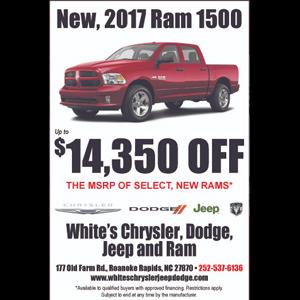 White Jeep Chrysler Dodge Jeep Ram