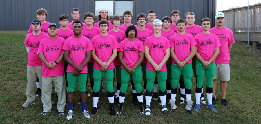 "Halifax Academy football team show support for Marcia Hudson Friday night wearing her #TeamMarcia  ""Ready for the FIGHT"" shirts. Hudson is in a battle with Breast Cancer."
