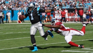 Martin targets Cam Newton in Sunday's NFL action.