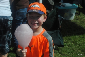Holden Ford enjoys cotton candy at last year's event.