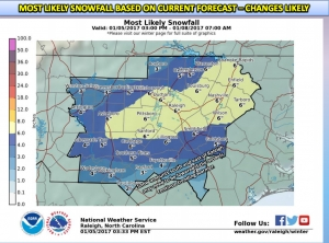 NWS: Valley at risk for heaviest amounts of snowfall