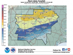 RR public works: Snowfall total could be near a foot