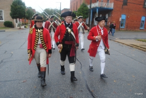 British reenactors march through Halifax during 2015's Muster Days.