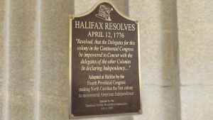 SAR to honor 240th anniversary of Halifax Resolves