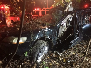 The vehicle following extrication of the driver.
