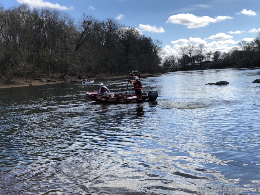 Swiftwater team on the river.