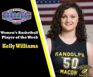 Williams named the ODAC Women's Basketball Player of the Week