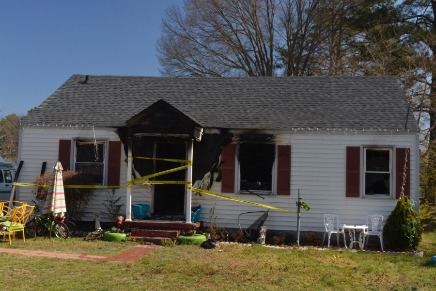 The house following the fire.
