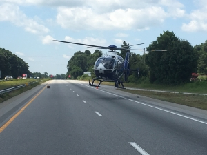 Vidant chopper at the scene.
